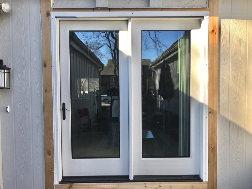 Therma Tru Flushed Glazed Fullview Hinged Patio Door