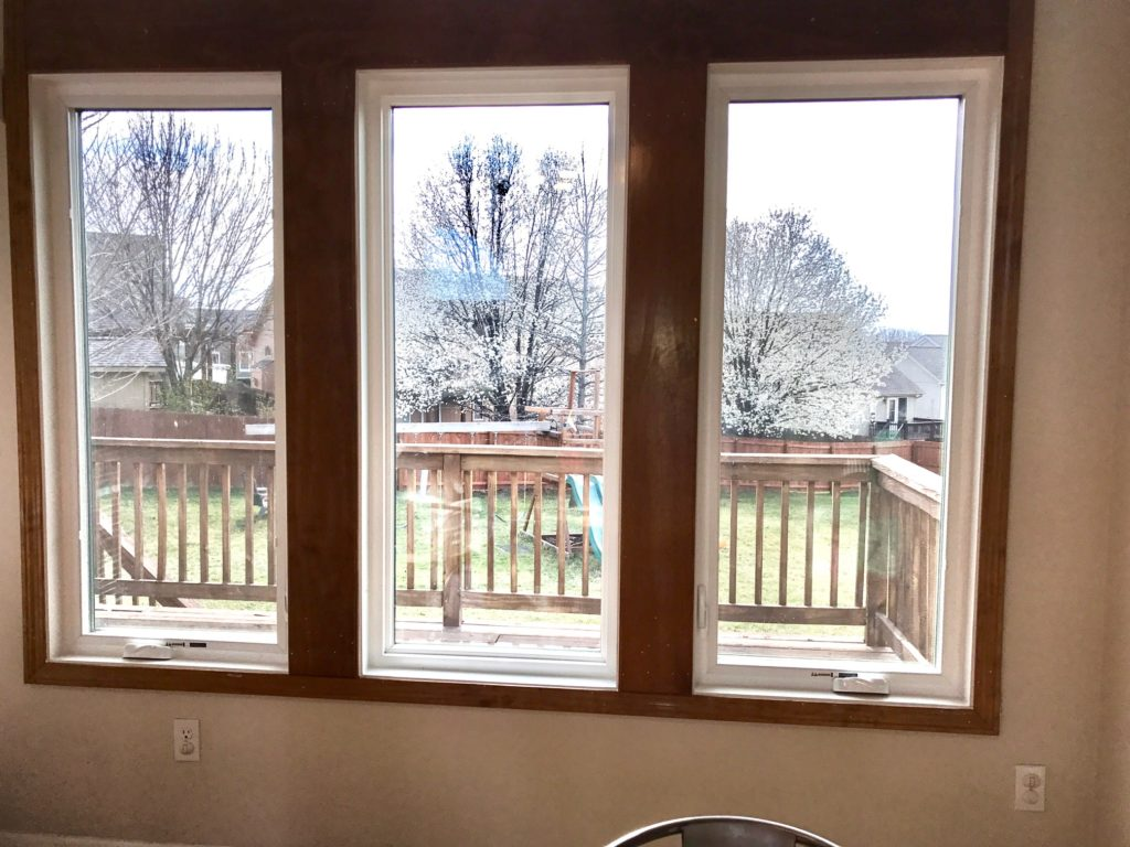 Casement Replacement Windows with Transom