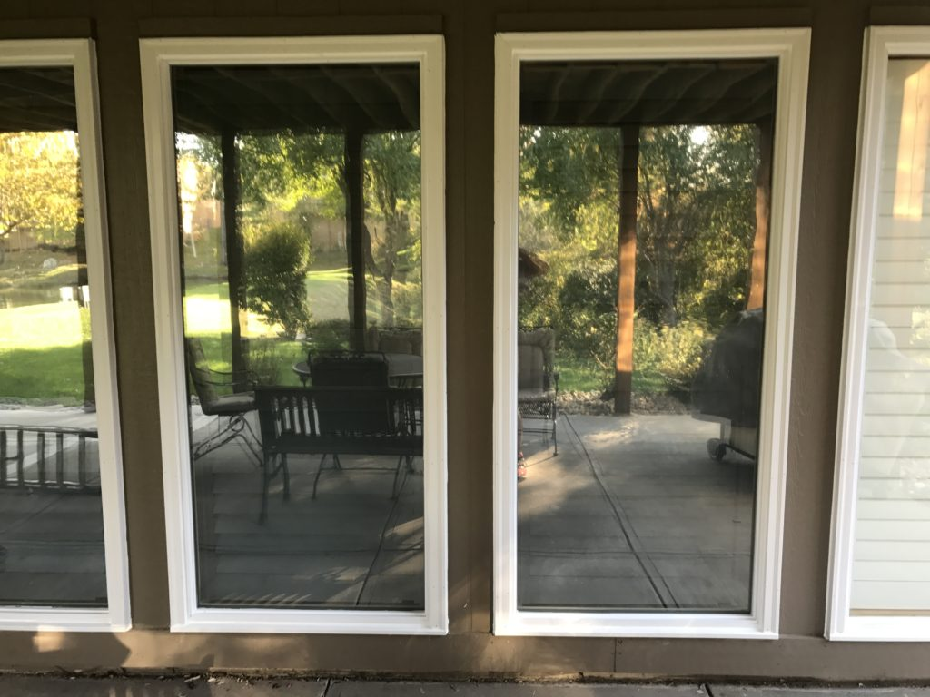 Direct Set window with PVC exterior trim replacement.