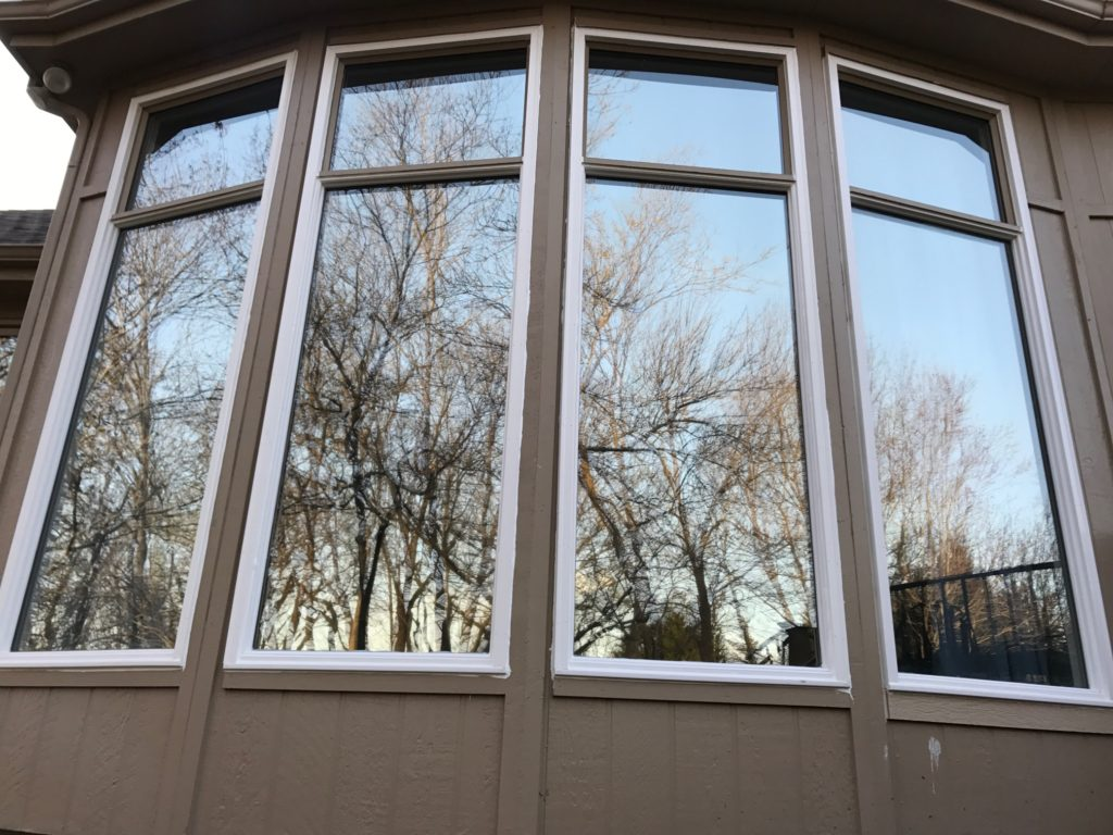Direct Set window with new PVC exterior trim